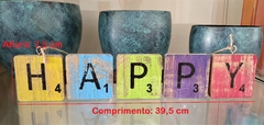 PENDENTE LETRAS 'HAPPY' ROOTS JOY - loja online