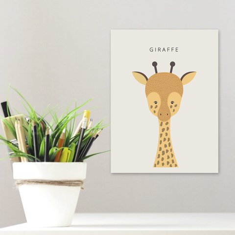 Placa Decor - Girafa Escandinavo
