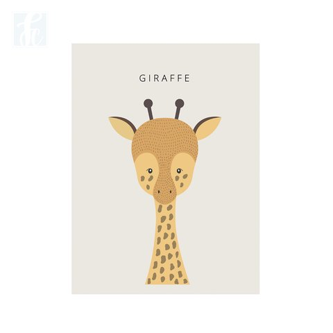 Placa Decor - Girafa Escandinavo - comprar online