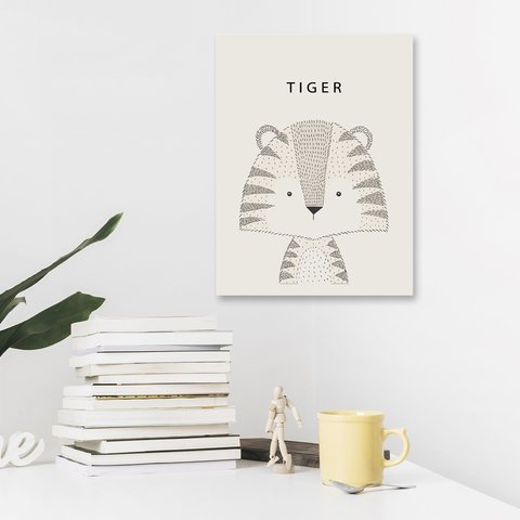 Placa Decor - Tigre Escandinavo