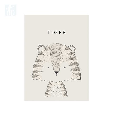 Placa Decor - Tigre Escandinavo - comprar online
