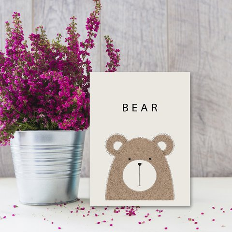 Placa Decor - Urso Escandinavo