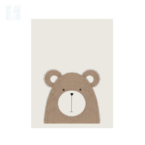 Placa Decor - Urso Escandinavo - comprar online