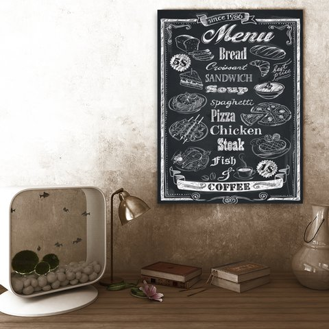 Placa Decor Frases - Menu