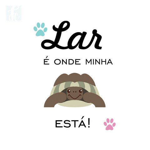 Placa Decorativa Pet - Tartaruga - comprar online