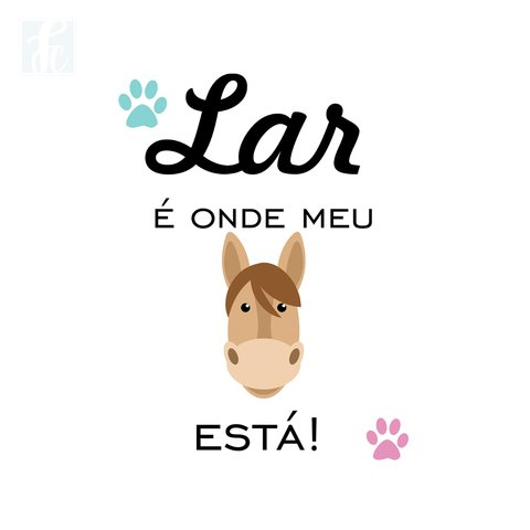 Placa Decorativa Pet - Cavalo - comprar online
