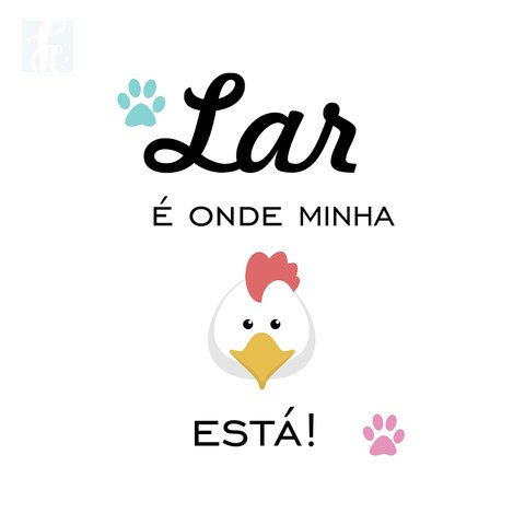 Placa Decorativa Pet - Galinha - comprar online