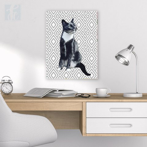 Placa Decor Pet Personalizada- Cinza - comprar online