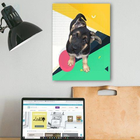 Placa Decor Pet Personalizada - Geometric Color - comprar online