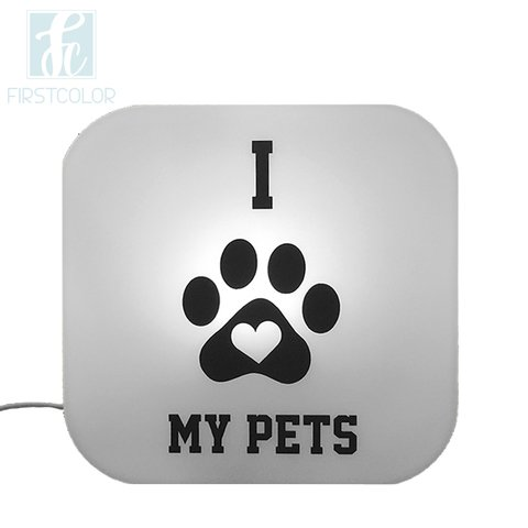 Luminária Ledito Box - I Love My Pets