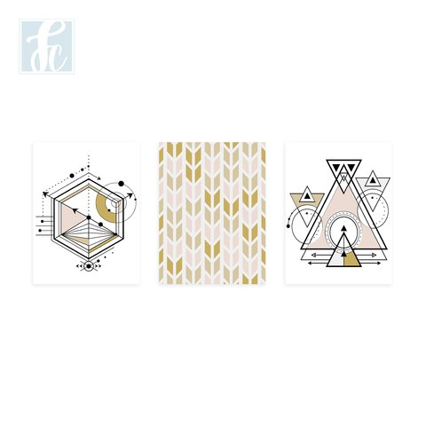 Placa Decor Kit Trio - Geomêtricos - comprar online