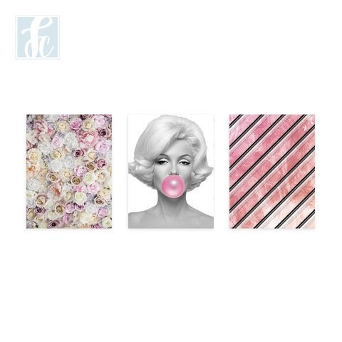 Placa Decor Kit Trio - Marilyn Monroe - comprar online