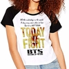 Camiseta Bts Bangtan Boys Not Today Kpop Raglan Babylook