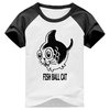 Camiseta Fish Ball Cat Peixe Bola Gato Raglan Manga Curta