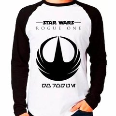 Camiseta Star Wars Rogue One Raglan Manga Longa