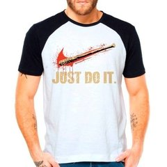 Camiseta The Walking Dead Twd Just Do It Negan Raglan Curta