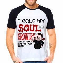 Camiseta Raglan Série Supernatural I Sold My Soul To Crowley