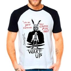 Camiseta Raglan Filme Donnie Darko Wake Up