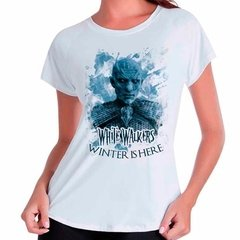 Camiseta Babylook Game Of Thrones White Walkers
