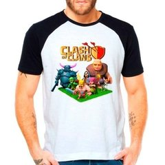 Camiseta Clash Of Clans Jogo Game Raglan Manga Curta