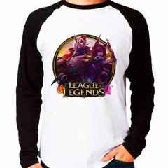 Camiseta Lol League Legends Xayah Rakan Raglan Manga Longa