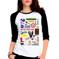 Camiseta How I Met Your Mother Himym Raglan Babylook 3/4