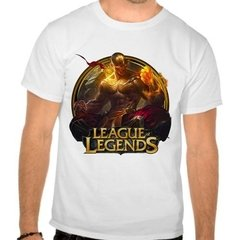 Camiseta Branca Lol League Of Legends Lee Sin Punhos