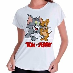 Camiseta Babylook Tom E Jerry