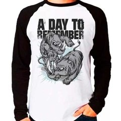 Camiseta Blusa Banda A Day To Remember Raglan Manga Longa