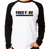 Camiseta Free Fire Gamer Player Raglan Manga Longa