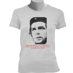 CAMISETA BABY LOOK DO CHE GUEVARA: QUALQUER INJUSTIÇA na internet