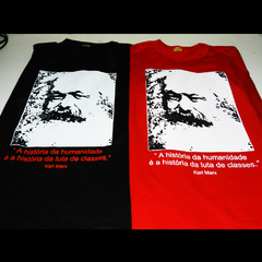 CAMISETA UNISSEX KARL MARX: LUTA DE CLASSES - Dom Camisetas