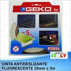 Cinta Antideslizante Fosforescente Intemperie 25mm X 5m Geko en internet