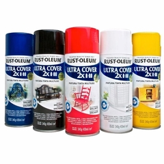 Pintura Aerosol Rust Oleum Ultra Cover 2X Colores Brillantes