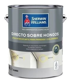 Látex Directo Sobre Hongos Sherwin Williams Blanco
