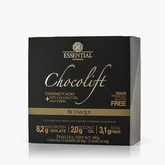 CHOCOLIFT BE UNIQUE BOX 480g - Box c/ 12 barras de 40g Chocolate com Whey Protein