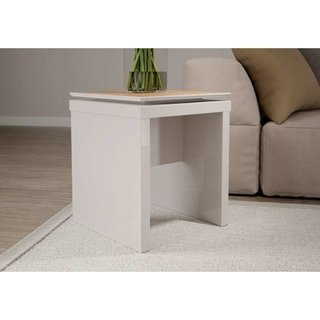 Mesa Lateral Lincoln Off-White/Natural Provincia