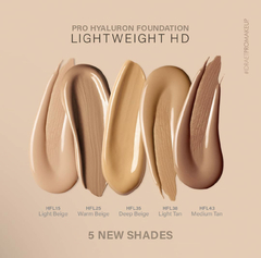 "IDRAET: PRO HYALURON FOUNDATION LIGHTWEIGHT HD BASE FLUIDA HD. tono: ""HFL15 Light Beige"" en internet"