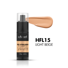 "IDRAET: PRO HYALURON FOUNDATION LIGHTWEIGHT HD BASE FLUIDA HD. tono: ""HFL15 Light Beige"""