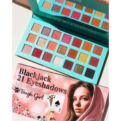 "RUDE: Blackjack 21 Eyeshadows ""Tough Girl"" Palette."
