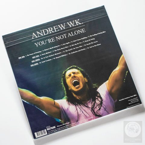 Vinil LP Andrew W.K. You're Not Alone 2LPs Colorido Lacrado