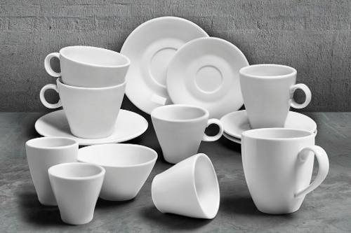 Tazas De Cafe Pocillo Conica Porcelana Tsuji Linea 1600 - Master Supply