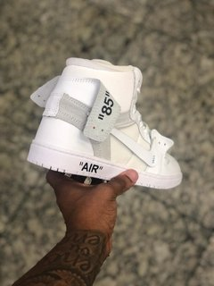 NIKE AIR FORCE CANO ALTO OFF WHITE na internet