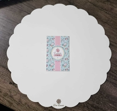 Cake board Babado branco 3mm