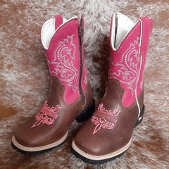Bota Infantil Mr West Tabaco/Pink