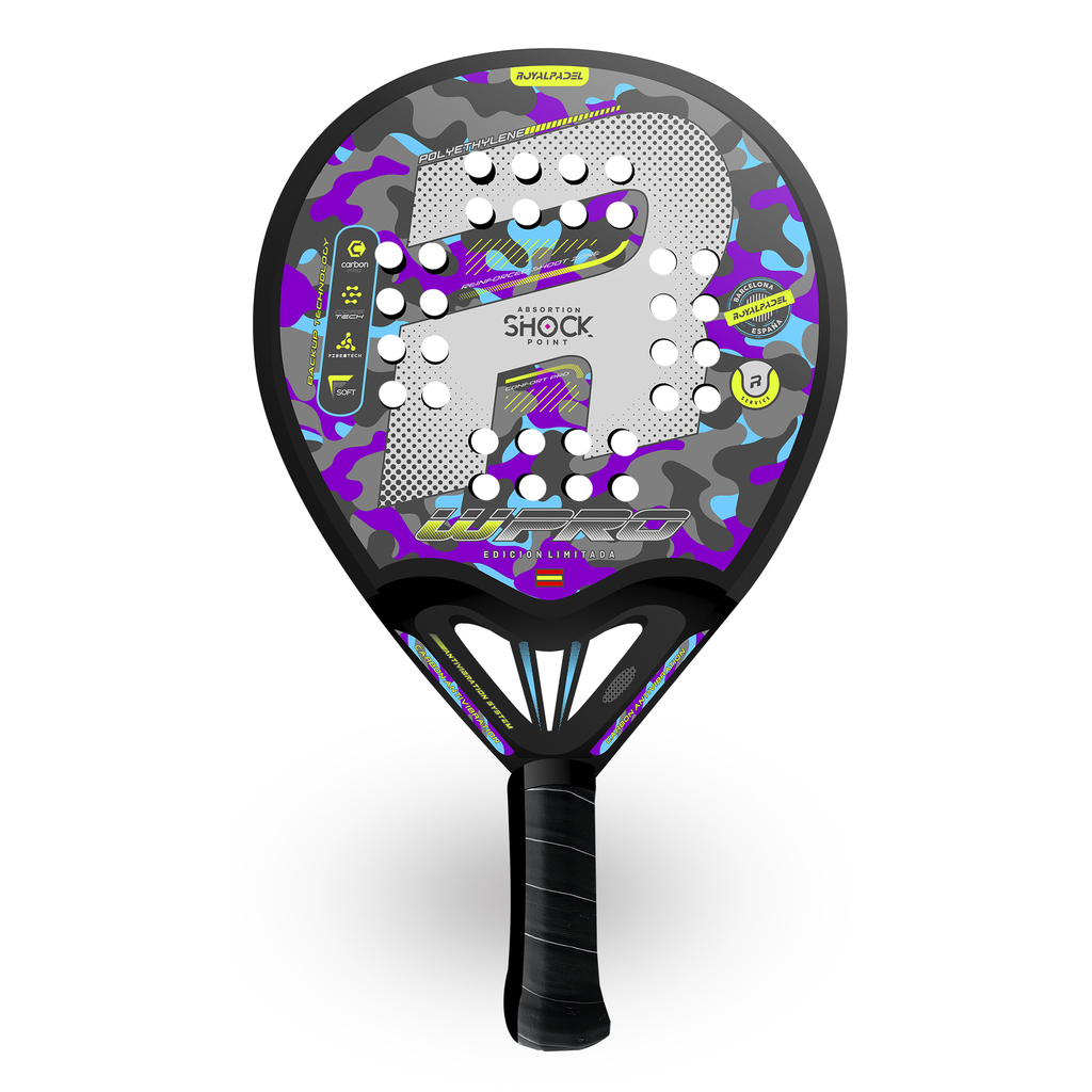 Paleta Padel Royal W-pro Barcelona Woman + Grip + Protector