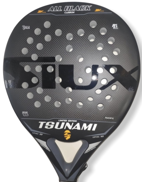Paleta Padel Siux Tsunami All Black Carbon