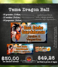 96 etiquetas material escolar Dragon Ball mod 02