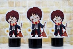 Kit 10 tubetes Harry Potter com aplique 3D - Festinha Legal