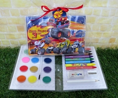 20 estojos Blaze and the monsters machines grandes lembrancinha Blaze Monster Machines com 31 itens completo - Festinha Legal
